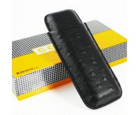 Black COHIBA Travel Leather Cigar Case