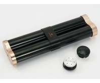 COHIBA Black Alloy Cigar Hydrating Tube Case Holder 2 Storage Tube With Humidifier