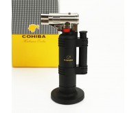 COHIBA Black Fire Extinguisher Style Torch Jet Flame Cigar Lighter