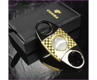 COHIBA Golden Stainless Steel Cigar Cutter On Sale