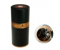 COHIBA Rose Golden Cylindrical Cigar Hydrating Tube Humidor Jar W/Hygrometer
