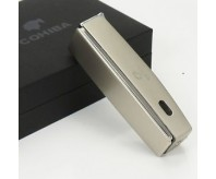 COHIBA Silver Chrome Jet Torch Flame Cigar Lighter With Cutter