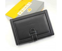 Cohiba Cigar Travel Humidor Case Black Real leather Cedar Wood