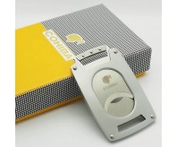 Cohiba Silver Stainless Steel Switch Blade Cigar Cutter