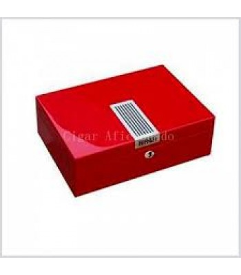 High-end Red Wooden Cigar Humidor with Lock Humidifier Hygrometer