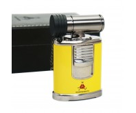 Montecristo Yellow Rotation Chimney Style 4 Torch Flame Cigar Lighter With Punch