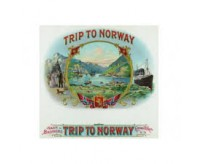 Trip to Norway Brand Cigar Box Label, Nautical