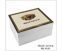 White ROMEO Y JULIETA Wood Cigar Humidor