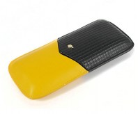 Signature Cohiba Black and Yellow Cigar Case
