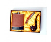 Smoking Pipe and Hip Flask Combo