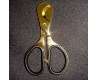 Gold Color Plated with Rubber Insert Handles Cigar Cutter