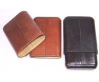 3 Medium Leather Cigar Holder