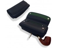 Peterson 2 Pipe Leather Tobacco Pouch